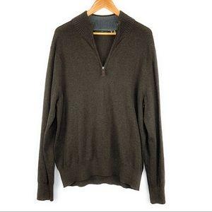 Men's Eddie Bauer 1/4 zip Pullover Sweater Large